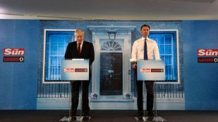 Boris Johnson and Jeremy Hunt at the latest debate