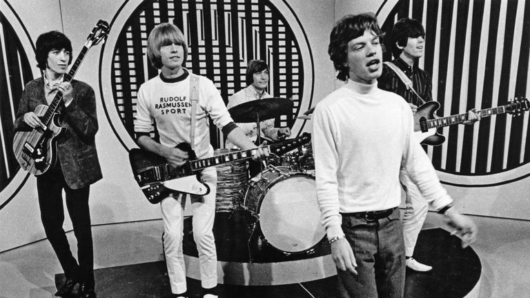 The Rolling Stones perform on the television show 'Thank Your Lucky Stars' at Teddington Studios in London 1965