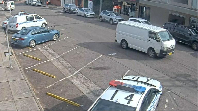 CCTV showed the van travelling at speed before the smash