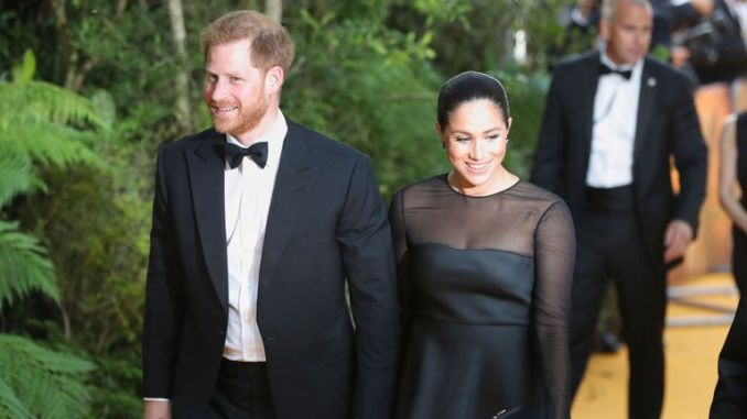 The Duke and Duchess of Sussex attend the European Premiere of Disney's The Lion King