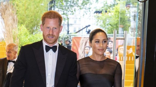 The Duke and Duchess of Sussex meet Beyonce and Jay-Z at the European Premiere of Disney's The Lion King