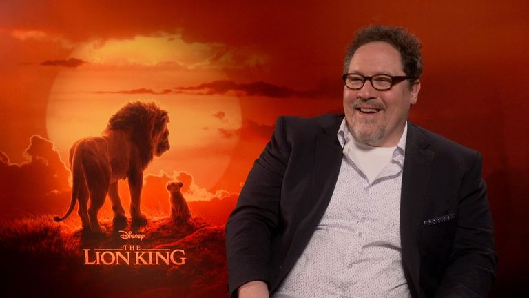 Lion King director John Favreau spoke to Sky's Bethany Minelle about the process of remaking The Lion King using advanced CGI