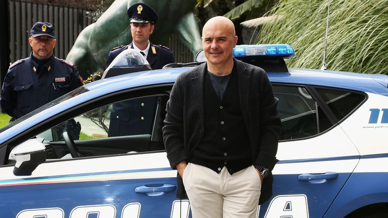 Actor Luca Zingaretti plays Inspector Montalbano