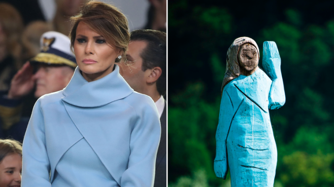 It is dressed in Melania's inauguration outfit