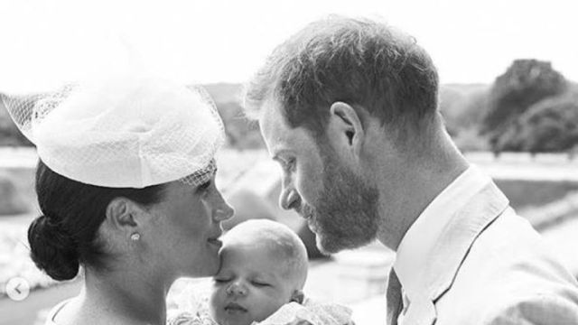 The Duke and Duchess of Sussex with baby Archie. Pic: Instagram