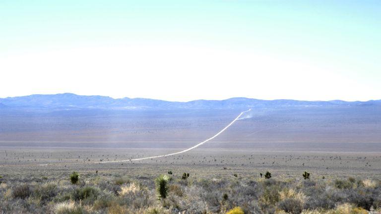 Area 51 (Groom Lake, Dreamland) File Photo near Rachel, Nevada, 2004