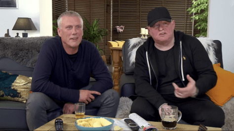 (L-R): Bez and Shaun Ryder, from the Happy Mondays and Black Grape, on Channel 4's Gogglebox