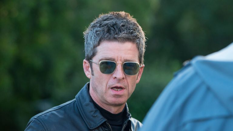 NEWPORT, ISLE OF WIGHT - JUNE 14: Noel Gallagher backstage at Isle of Wight Festival 2019 at Seaclose Park on June 14, 2019 in Newport, Isle of Wight. (Photo by Mark Holloway/Getty Images,)