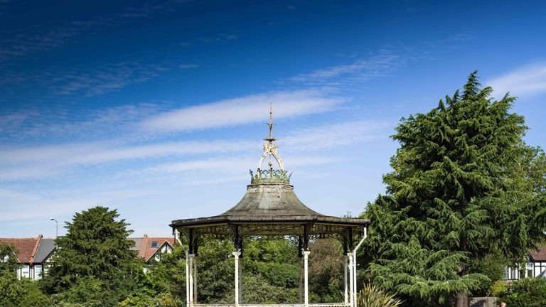 The bandstand was the centrepiece of a festival in 1969