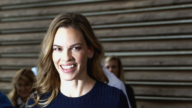 Actress Hilary Swank attends the 72nd Locarno Film Festival on August 10, 2019