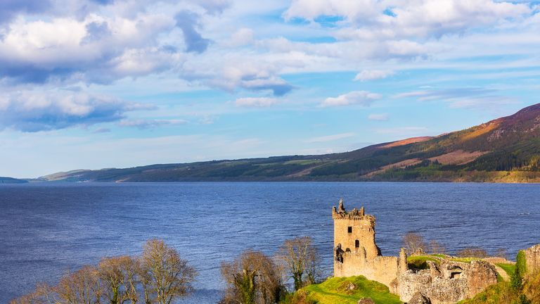 Urquhart Castle at Loch Ness, long rumoured to be home to a monster
