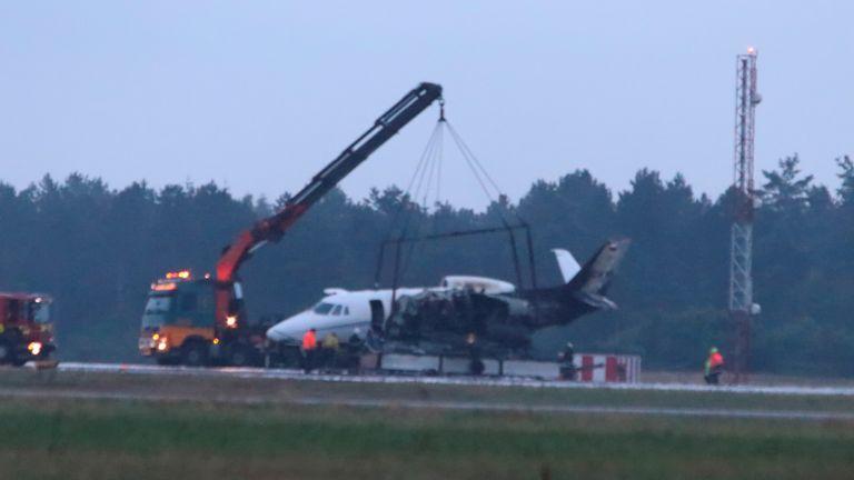 Plane crash in Denmark