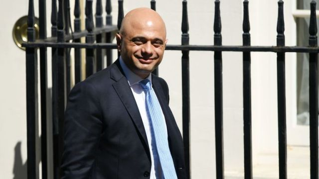 LONDON, ENGLAND - JULY 25: Chancellor of the Exchequer Sajid Javid leaves 11 Downing Street following the first cabinet meeting with new Prime minister Boris Johnson on July 25, 2019 in London, England. Britain's New Prime Minister, Boris Johnson, appointed his Cabinet yesterday evening with 17 of Theresa May's Ministers replaced. The number of Leave supporting Ministers doubled from six to 12 and 31 Ministers are now entitled to attend Cabinet. (Photo by Chris J Ratcliffe/Getty Images)
