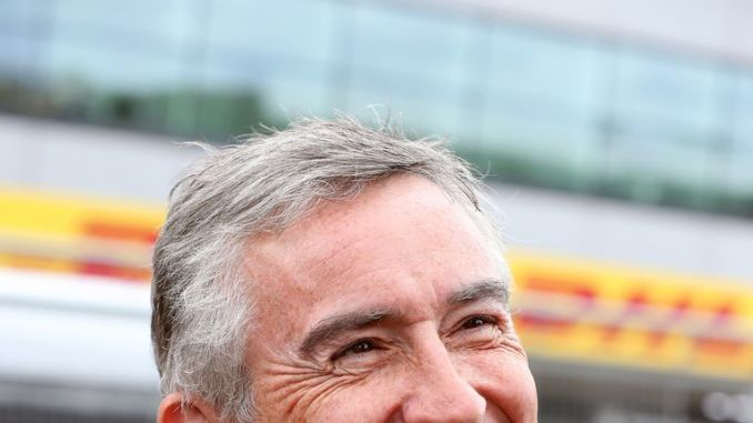 Steve Coogan, known as a car enthusiast, was seen at the British Grand Prix last month
