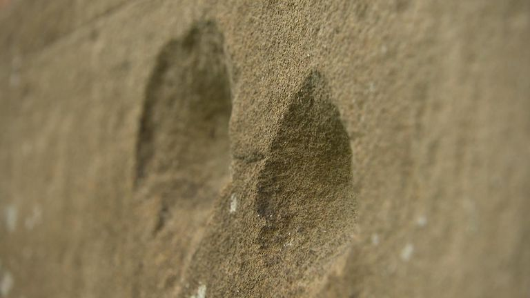 Dents in a church wall in Worcester have long-convinced historians the battle took place there