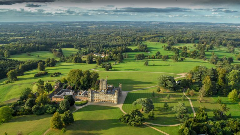 The grounds of Highclere Castle are 1,000 acres