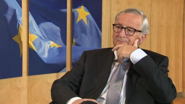 Jean-Claude Juncker speaks exclusively to Sky News