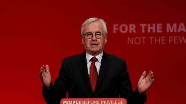 John McDonnell speaks during the Labour party annual conference in Brighton