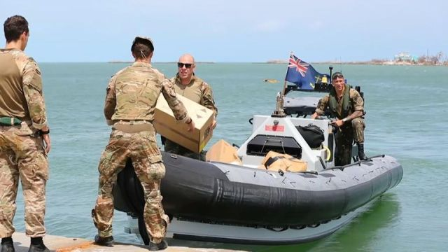 The Royal Navy has delivered aid to the Bahamas which was left devastated by Hurricane Dorian.
