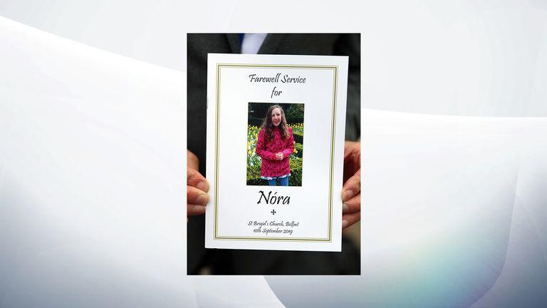 Nora Quoirin was described as 'gentle and innocent' at her funeral in Belfast