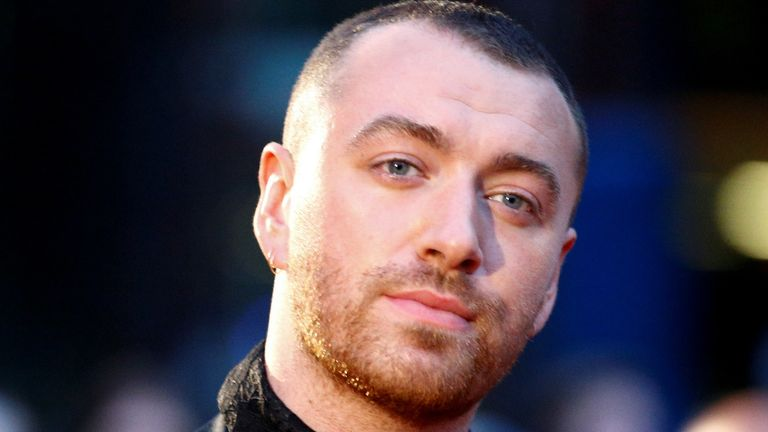 Singer Sam Smith poses as he arrives at the GQ Men Of The Year Awards in London, Britain on 3 September