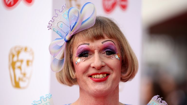 LONDON, ENGLAND - MAY 12:  Grayson Perry attends the Virgin Media British Academy Television Awards 2019 at The Royal Festival Hall on May 12, 2019 in London, England. (Photo by Mike Marsland/WireImage)