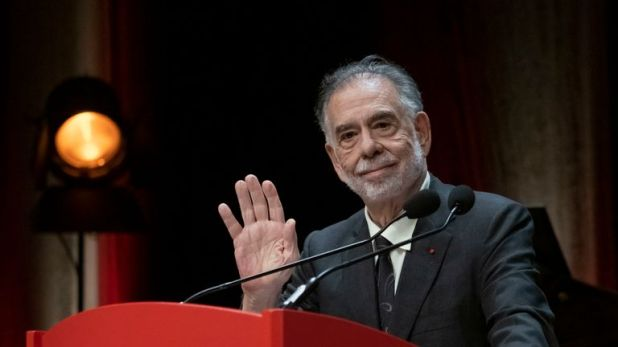 Francis Ford Coppola attends his tribute during the 11th Film Festival Lumiere on October 18, 2019 in Lyon, France
