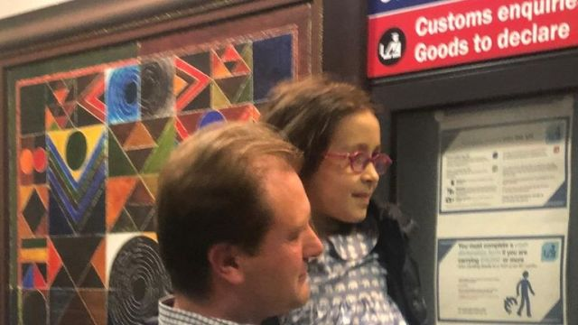 Gabriella Zaghari-Ratcliffe with her father Richard Ratcliffe