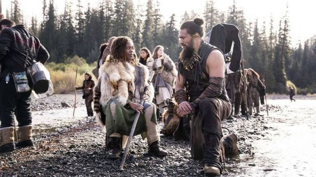 Jason Momoa and Alfre Woodard in See. Pic: Apple TV+