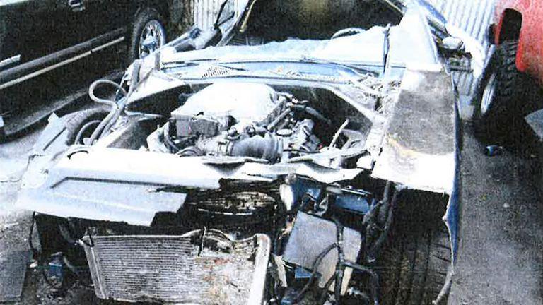 Kevin Hart's car. Pic: CHP