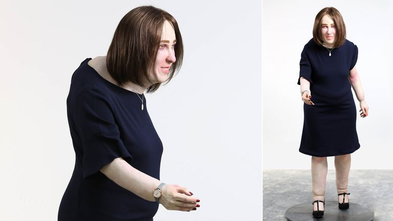 A life-sized model named 'Emma' has been created by Fellowes and Behavioural Futurist William Higham