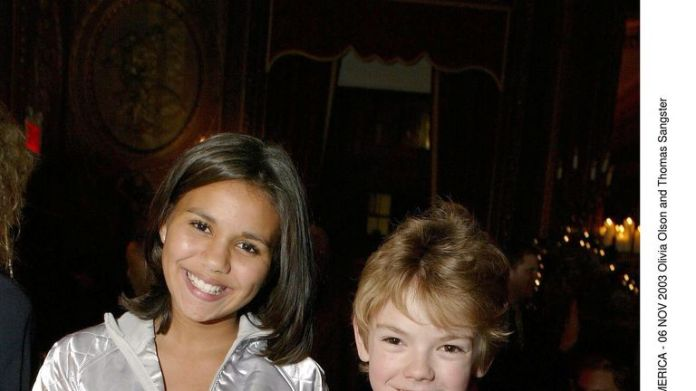 ACTUALLY LOVE & # 39; POST PREMIERE PARTY AT THE ZIEGFELD THEATER, NEW YORK, AMERICA - 06 NOV 2003 Olivia Olson and Thomas Sangster  November 6, 2003