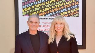 Forster with his wife of 16 years Denise Grayson at the Once Upon A Time In Hollywood premiere
