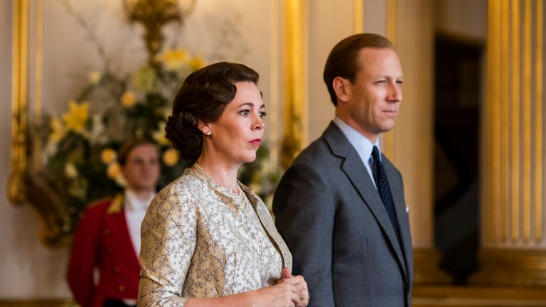 Olivia Colman as the Queen in The Crown. Pic: Sophie Mutevelian/Netflix