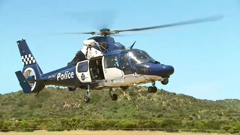 The search is difficult due to surrounding bushland. Pic: Nine News Australia/PA Wire