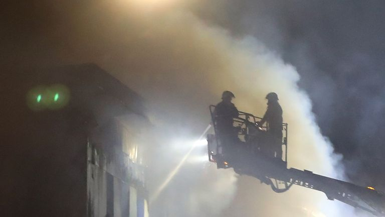 Firefighters at the scene on Bradshawgate