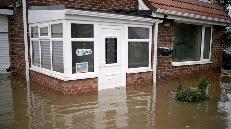 Rising water has caused people to evacuate their homes in Fishlake