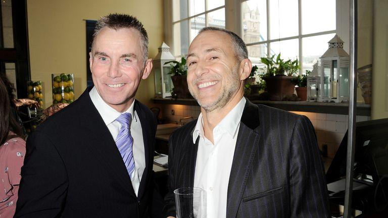 Rhodes with Michel Roux Jr in 2011