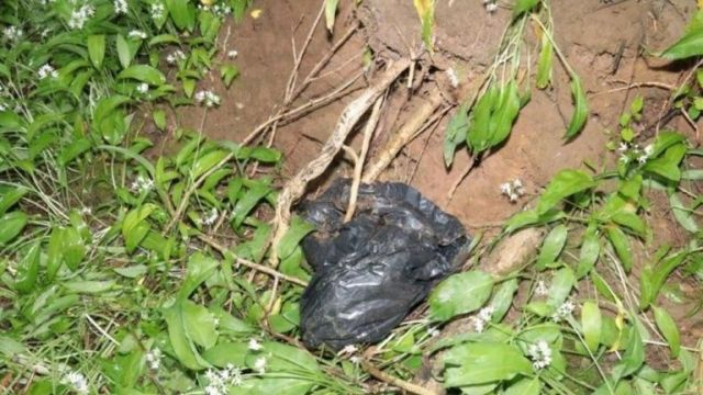 A bag of blood-stained clothes dumped by Griffiths. Pic: Wiltshire Police