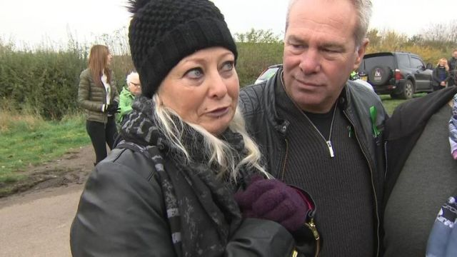 Harry Dunn's mother talks to Sky News at biker event for the crash victim.