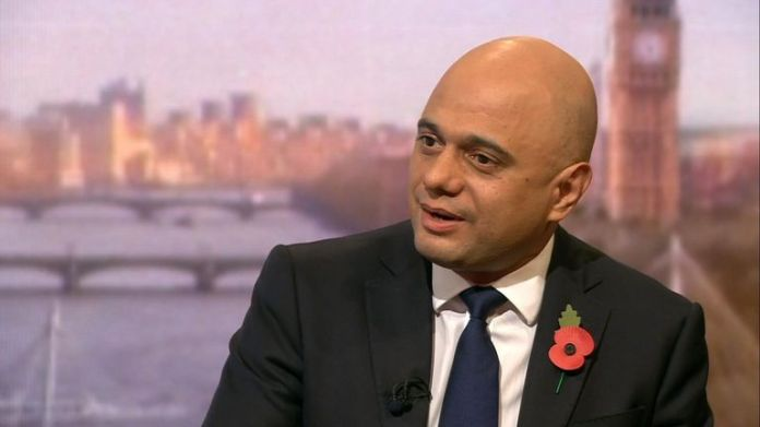 Sajid Javid in the show Andrew Marr