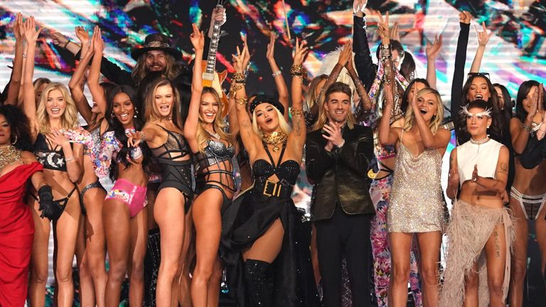 Performers and models at the 2018 Victoria's Secret Fashion Show in New York City