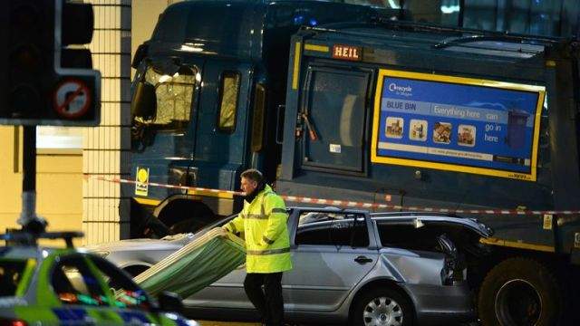 2014: The bin lorry mounted the pavement and hit pedestrians in Glasgow