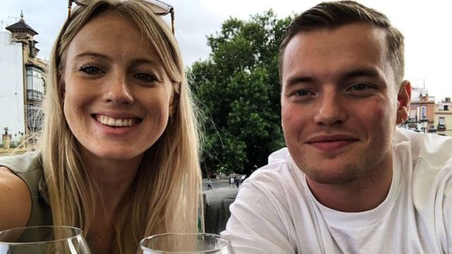 Jack Merritt pictured with his girlfriend Leanne