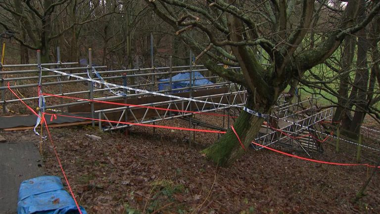 A huge search was carried out in remote countryside beside the M40 near Beaconsfield
