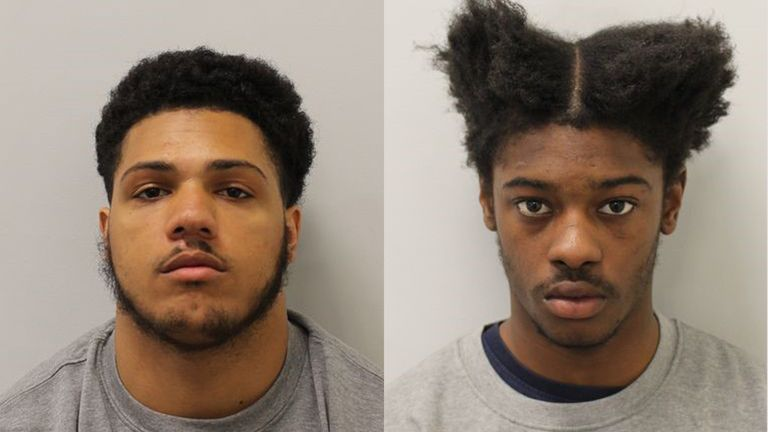Sheareem Cookhorn (l) and Tyrell Graham were convicted of murder