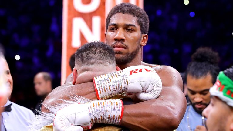 Image result for Anthony Joshua defeats Andy Ruiz Jr to regain world heavyweight title glory
