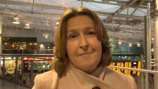 Sarah Longlands was unable to do the 35 mile journey because trains were cancelled