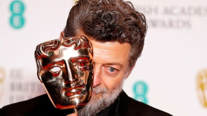 Andy Serkis won the outstanding British contribution to cinema prize