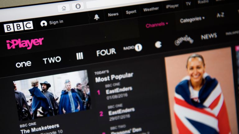 The BBC provides nine national TV channels and the iPlayer